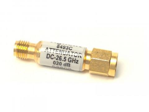Коаксиальный аттенюатор 6 дБ, диапазон от 0 до 26,5 ГГц. 8493C-006